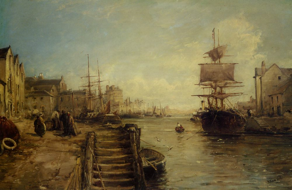 A Bit of Poole Harbour :: William Edward Webb - Sea landscapes with ships ôîòî