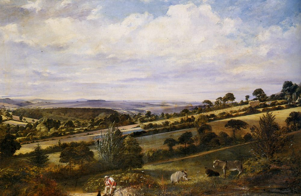 A Rest in a Fertile Valley :: William Frederick Witherington - Summer landscapes and gardens ôîòî