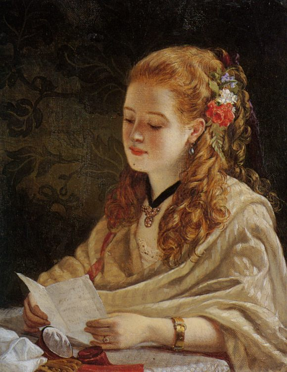 The Letter :: William Maw Egley  - 6 woman's portraits hall ( The middle of 19 centuries ) in art and painting ôîòî