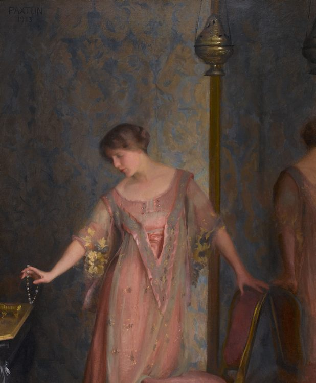 Rose and Blue :: William McGregor Paxton - 8 female portraits hall фото
