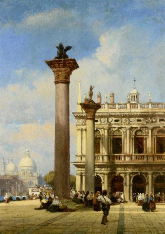 Figures in St Marks Square Venice :: William Wilde  - Venice ôîòî