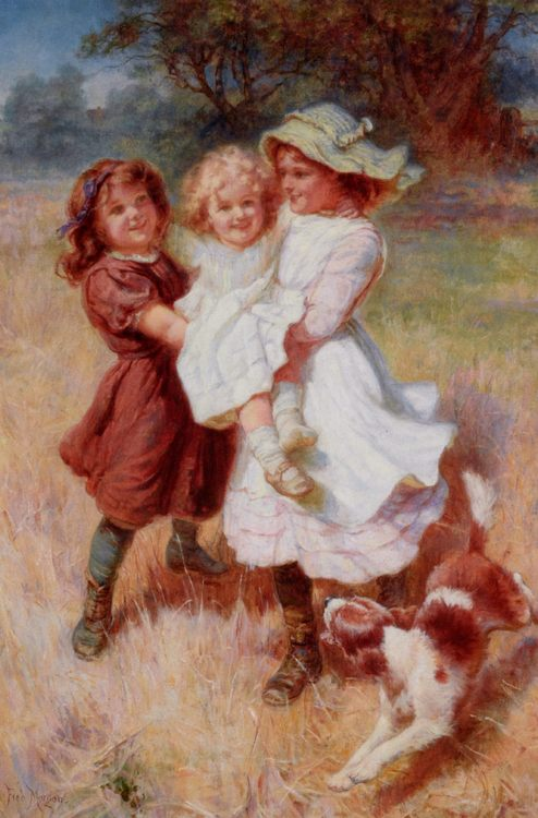 Good Friends :: Frederick Morgan - Children's portrait in art and painting фото
