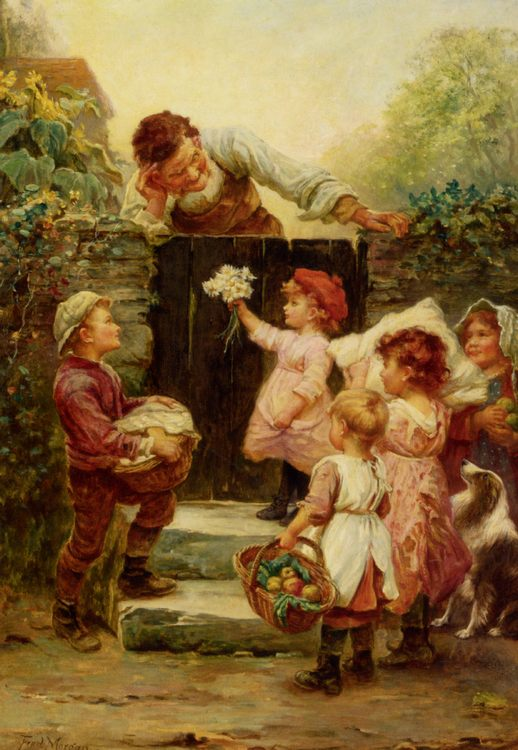Grandfathers Birthday :: Frederick Morgan  - Children's portrait in art and painting фото