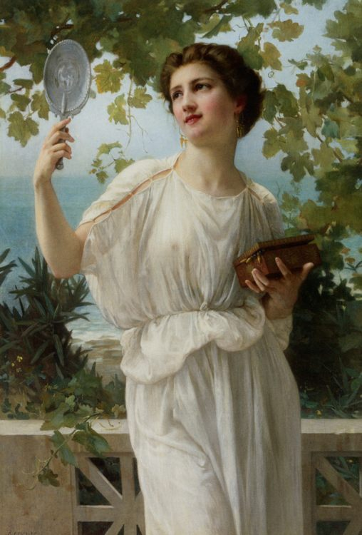 Admiring Beauty :: Guillaume Seignac - Antique beauties in art and painting фото