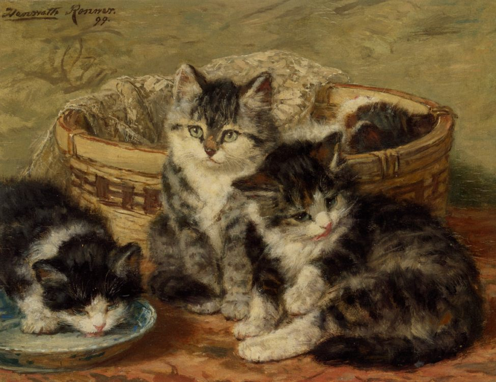 Four Kittens :: Henriette Ronner-Knip - Cats фото