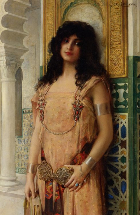 Eastern Beauty  :: Leon Francois Comerre - Arab women ( Harem Life scenes ) in art  and painting фото