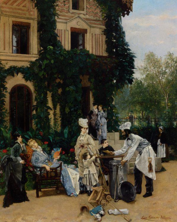 Crepe Maker :: Louis Robert Carrier-Belleuse - Street and market genre scenes фото
