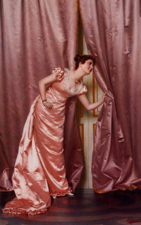 Eavesdropping  :: Vittorio Reggianini - Romantic scenes in art and painting фото