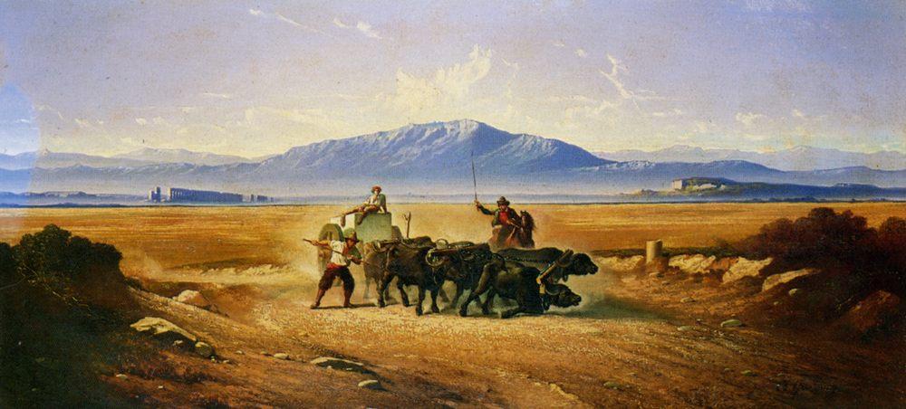 Transporting a block of marble :: Carl Max Gerlach Quaedvlieg - Antique world scenes ôîòî
