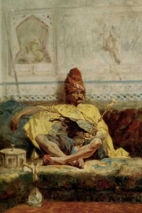 Seated Bashi Bazouk :: Charles Bargue  - scenes of Oriental life ( Orientalism) in art and painting фото