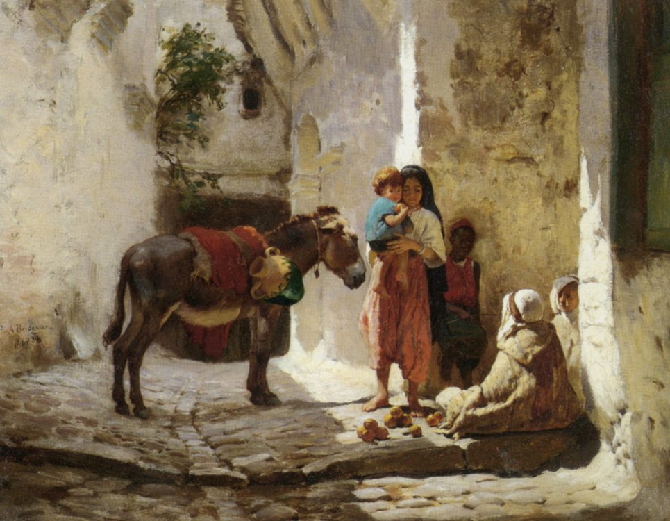 The Orange Seller :: Frederick Arthur Bridgman  - Street and market genre scenes фото