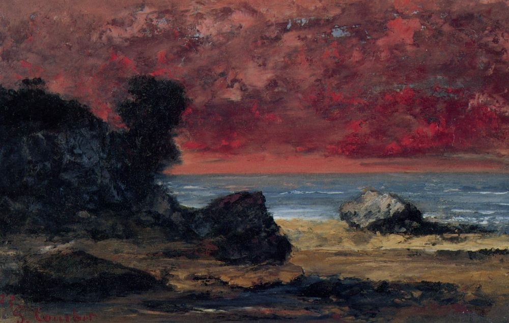 After the navy blue storm :: Gustave Courbet - Coastal landscapes фото