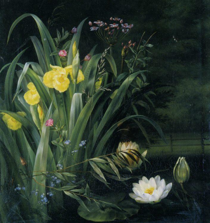 Lily Pond :: Hermania Sigvardine Neergaard - flowers in painting ôîòî