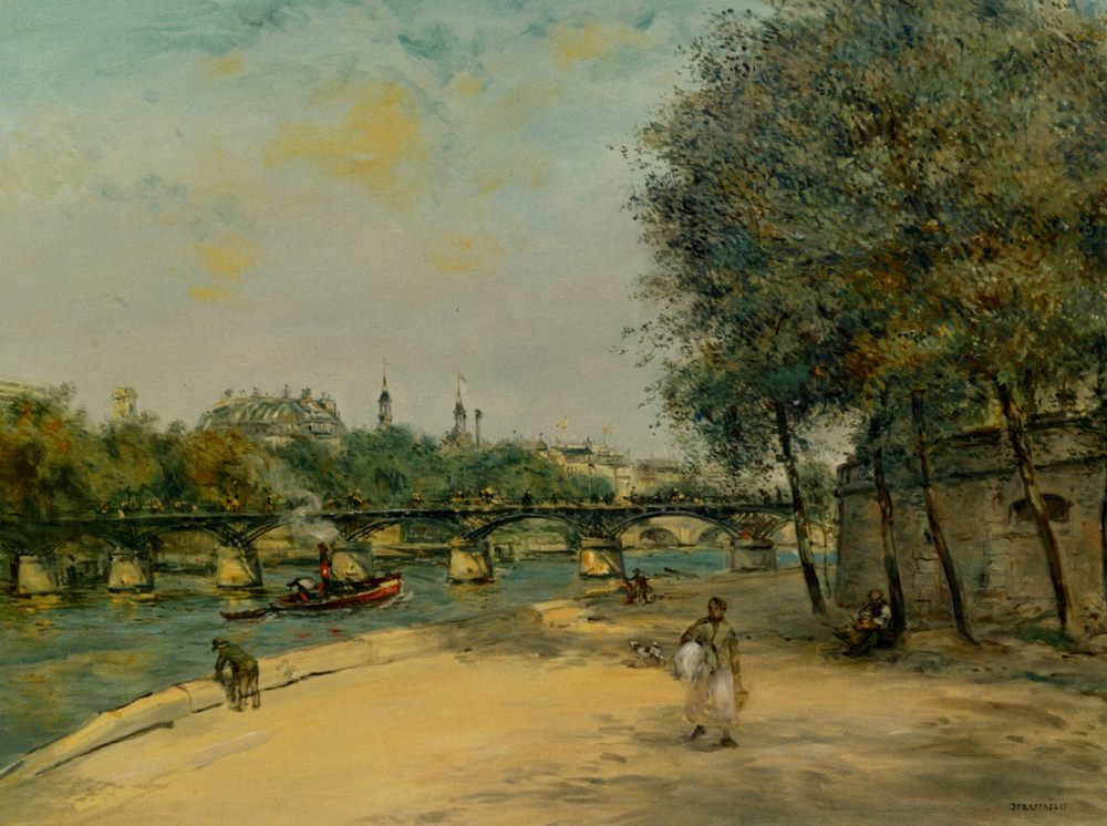 Institute of Framce and the Bridge of Arts :: Jean Francois Raffaelli - Streets ôîòî