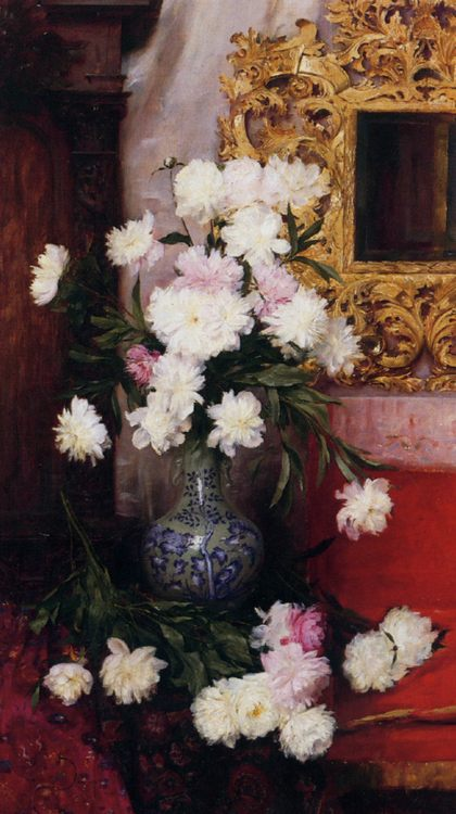 Vase de pivoines :: Albert Aublet - flowers in painting фото