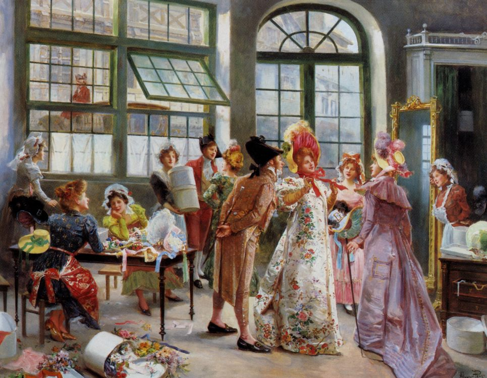 Ladies at the Milliners :: Alonso Perez  - Romantic scenes in art and painting ôîòî