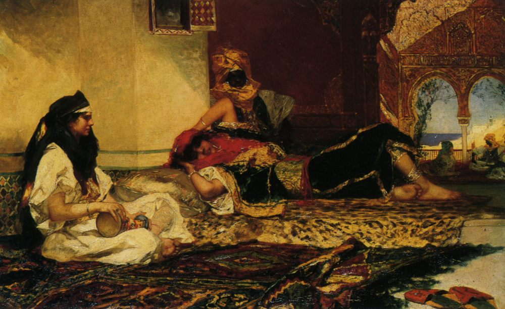In the Harem :: Benjamin Jean Joseph Constant - Arab women (Harem Life scenes) in art  and painting ôîòî
