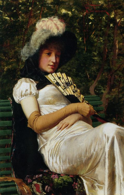 Young Lady :: Charles Joseph Frederick Soulacroix  - 7 female portraits ( the end of 19 centuries ) in art and painting ôîòî