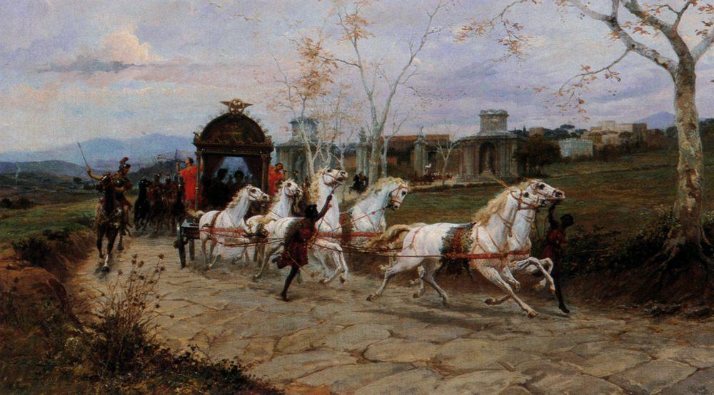 Arrival of Caesar :: Ettore Forti - Antique world scenes фото