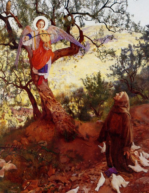 Saint Francis of Assisi :: Frank Cadogan Cowper - Angels in art and painting фото