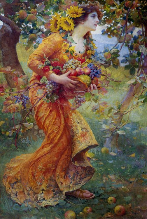 The Orchard :: Franz Dvorak - Young beauties portraits in art and painting фото