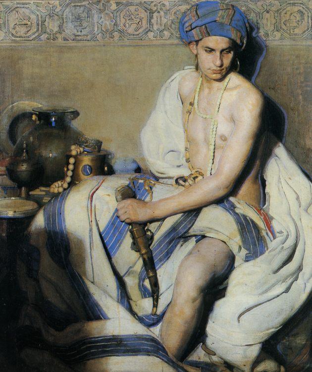 A Turbaned Oriental :: Gabriel Raya Morcillo - Interiors in art and painting ôîòî