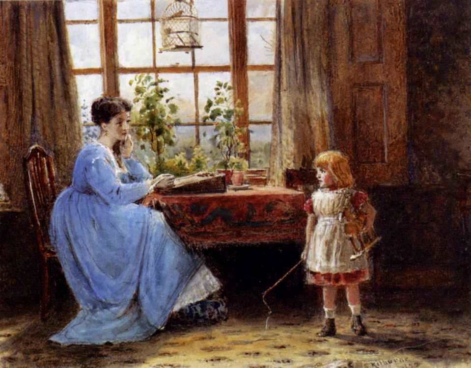 A Mother And Child In An Interior :: George Goodwin Kilburne - Woman and child in painting and art фото