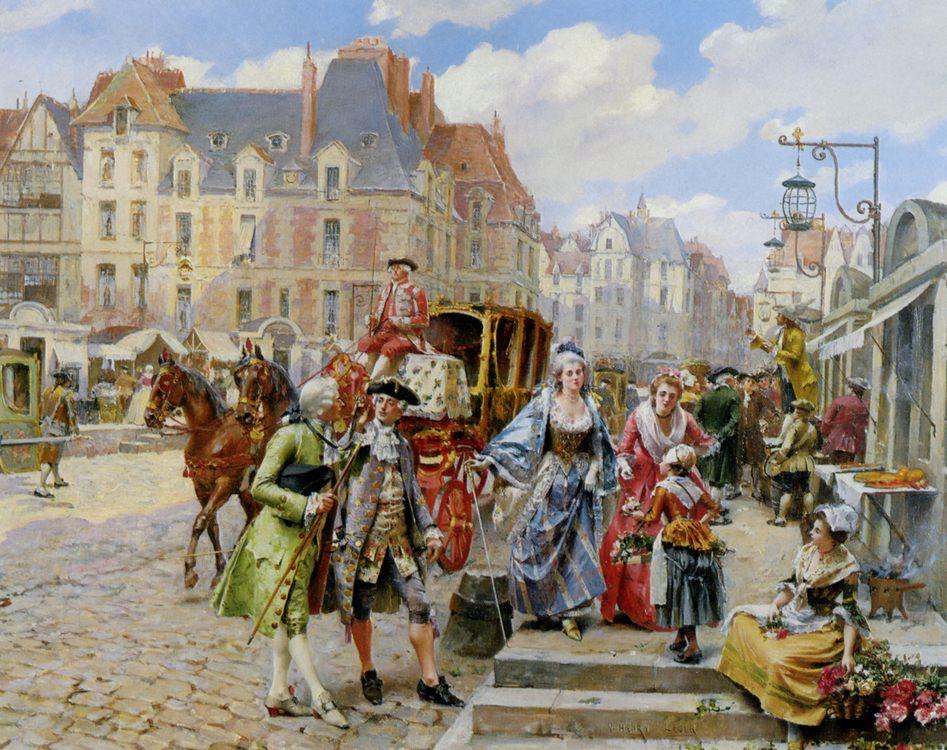 Paris Street in the time of Louis XIV :: Henri Victor Lesur - France ôîòî