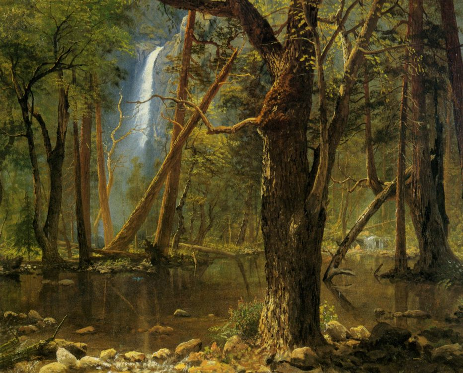View in Yosemite Valley :: Albert Bierstadt - Forest landscapes ôîòî