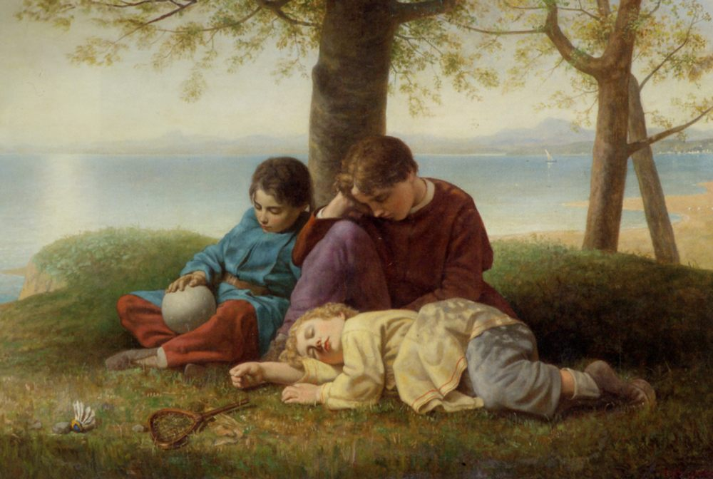 Repose :: Charles Lucy  - Children's portrait in art and painting фото