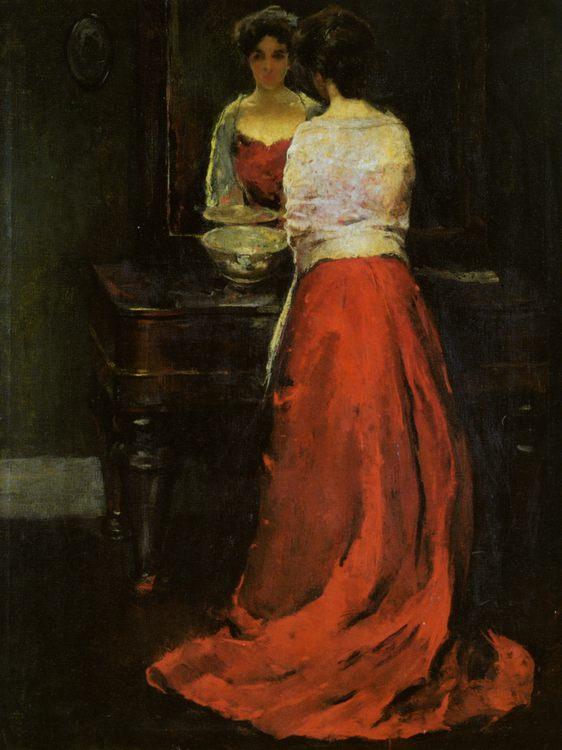 Lady in Red :: Charles Webster Hawthorne - 8 female portraits hall ôîòî