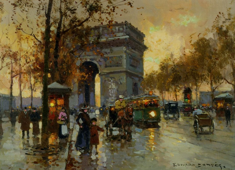 View of the Triumphal arch :: Edouard Leon Cortes - France фото