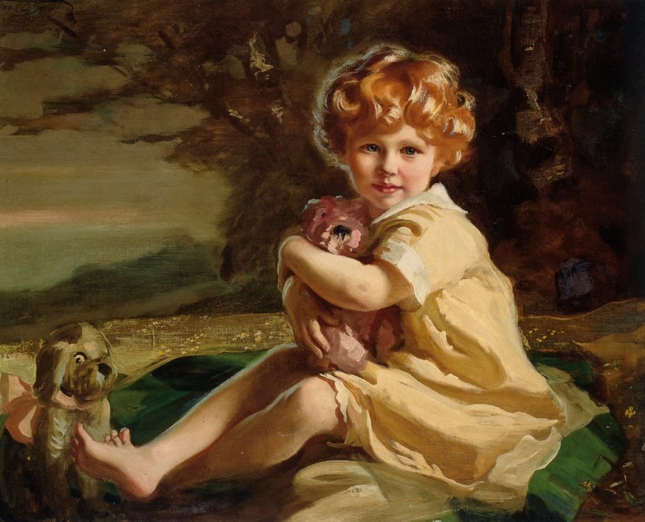 Portrait of Sarah Fenton King as a Little Girl :: Frank O. Salisbury  - Portraits of young girls in art and painting фото