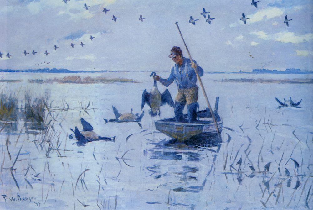 Retrieving Geese :: Frank Weston Benson - Hunting scenes ôîòî