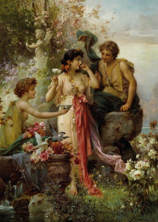 Love Offering :: Hans Zatzka  - Romantic scenes in art and painting фото