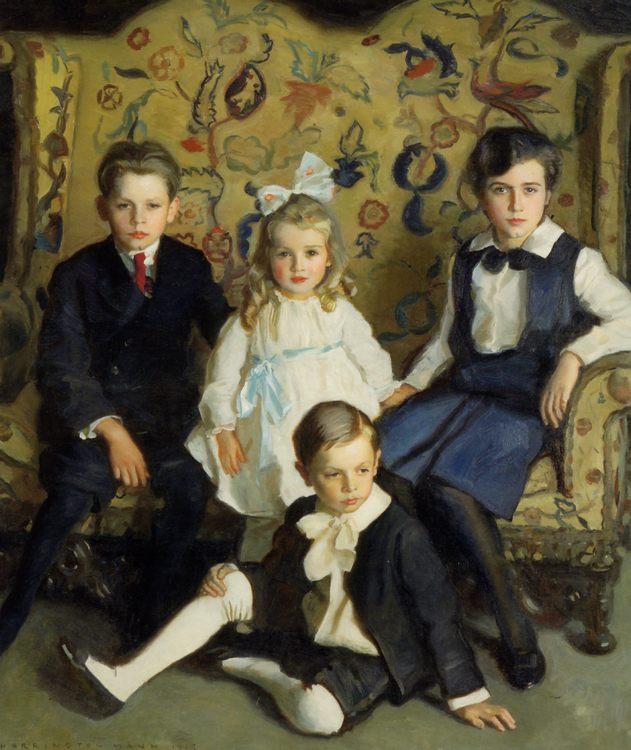 A Family Portrait of Four Children :: Harrington Mann - Children's portrait in art and painting фото
