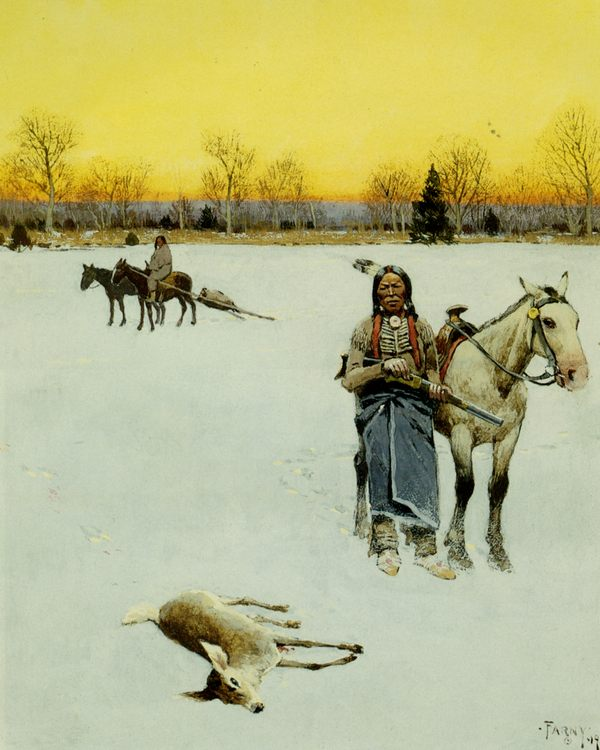 In Luck Gouache :: Henry Farny  - Hunting scenes ôîòî