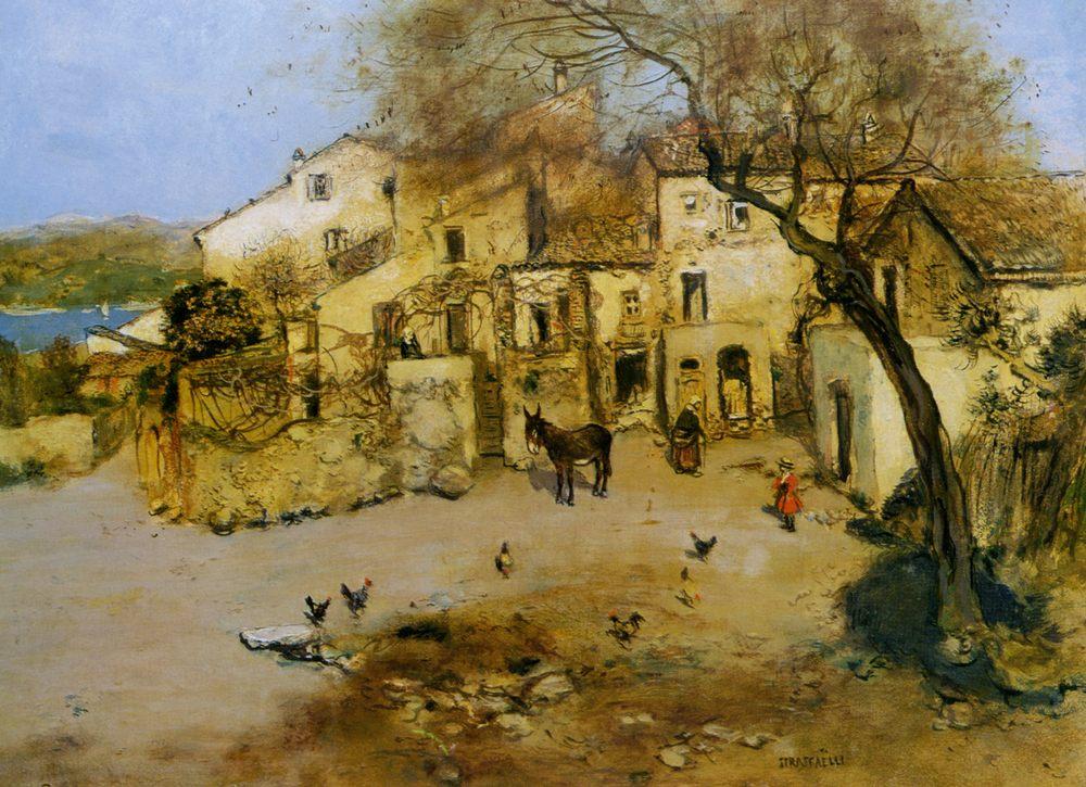 A Mediterranean Courtyard  :: Jean Francois Raffaelli - Rural houses ôîòî