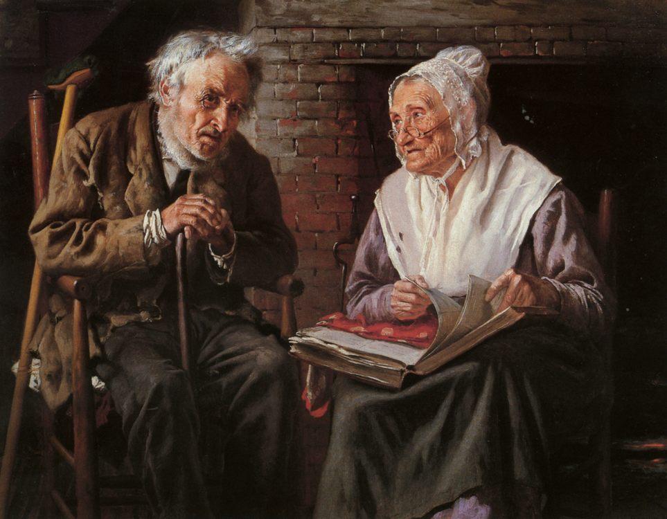 Old Memories :: John George Brown - Portraits of elderly men фото