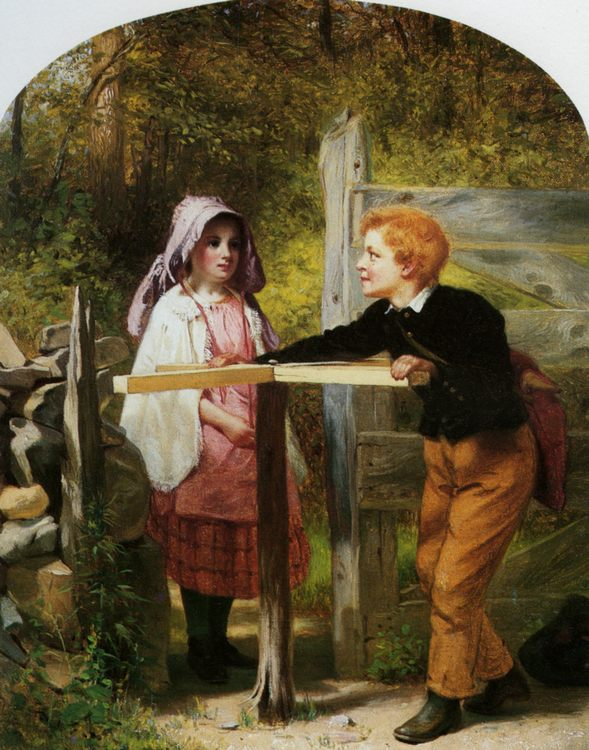 Pay Toll :: John George Brown  - Children's portrait in art and painting фото