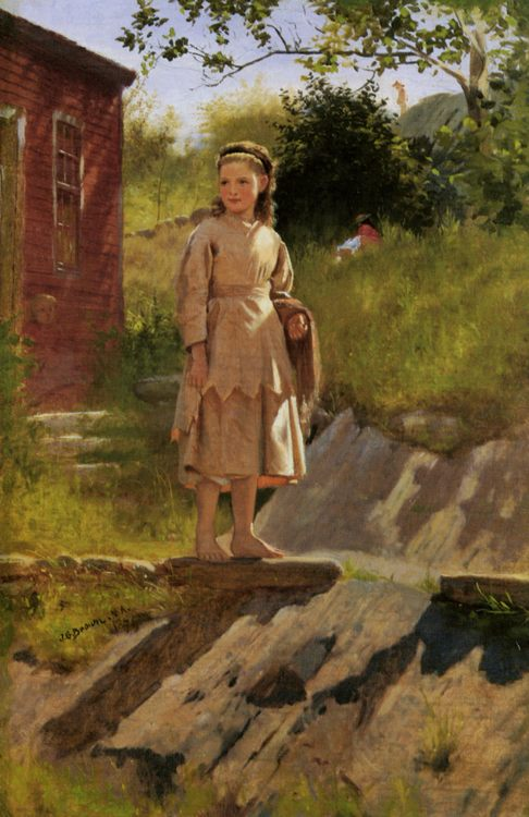 Young Girl :: John George Brown - Portraits of young girls in art and painting ôîòî