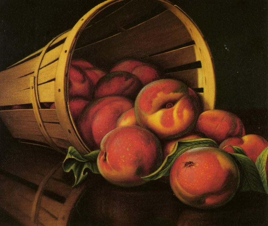 Basket of Peaches :: Levi Wells Prentice - Still-lives with fruit фото