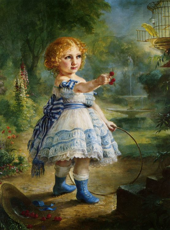 Will You Have Some Fruit  :: Lilly Martin Spencer - Portraits of young girls in art and painting ôîòî