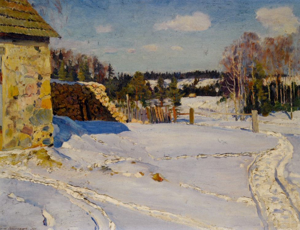 Winter Landscape :: Sergei Arsenievich Vinogradov - winter landscapes ôîòî