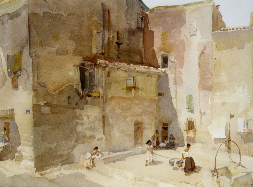 A Sunlit Square Languedoc :: Sir William Russell Flint - France фото
