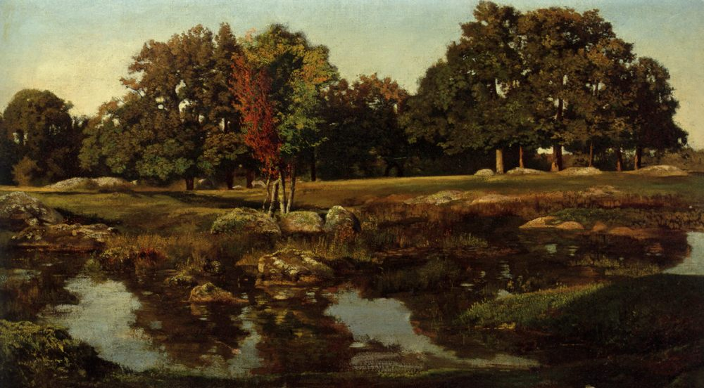 Near the Mare's dormitories :: Theodore Rousseau - Summer landscapes and gardens ôîòî