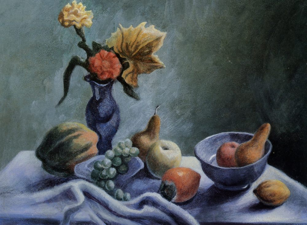 Still life with wildflowers :: Thomas Hart Benton - Still life фото