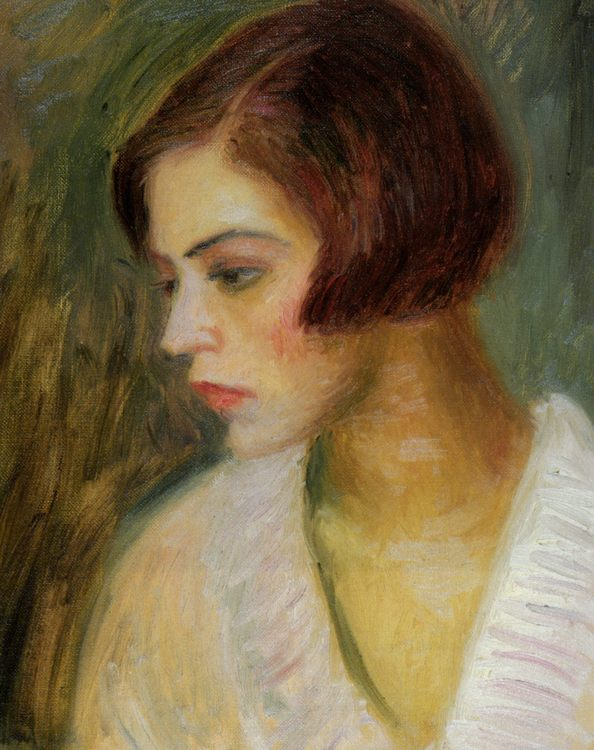 Head of a French Girl :: William Glackens - 8 female portraits hall фото