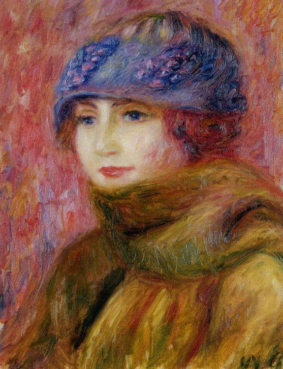 Woman In Blue Hat :: William Glackens - 8 female portraits hall ôîòî