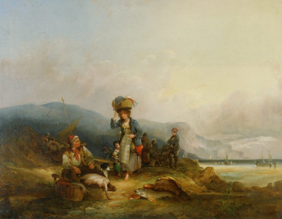 Fisherfolk and their Catch :: William Shayer - Coastal landscapes ôîòî